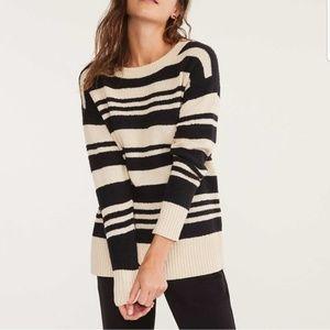 LOU & GREY Fuzzline Striped Knit Pullover Sweater